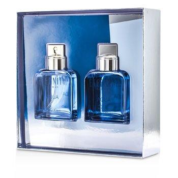 Calvin Klein Eternity Aqua Coffret: Eau De Toilette Spray 100ml/3.4oz + After Shave Lotion 100ml/3.4oz 2pcs