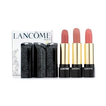 Lancome 3 L'Absolu Nu Lipstick Set: (#104, #207, #307)  3x4.2ml/0.12oz