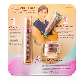 Dr Robert ReySensual Solutions Set: Cleanser 45ml + Wrinkle Filler 14.2g + Wrinkle Erase 48g 3pcs