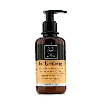 ApivitaBody Energy Energizing Body Milk with Orange & Ginger 200ml/7.05oz
