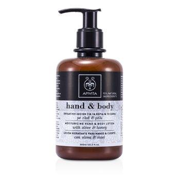 Apivita Moisturizing Hand & Body Lotion with Olive and Honey 300ml/10.2oz
