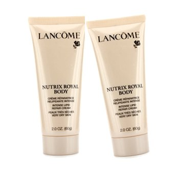 Lancome Nutrix Royal Body Intense Lipid Repair Cream Duo Pack - Very Dry Skin (Travel Size) (Unboxed) 2x60g/2oz
