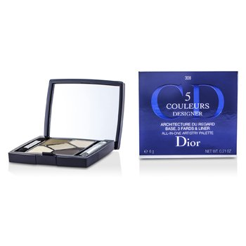 Christian Dior 5 Color Designer All In One Artistry Palette - No. 308 Khaki Design  6g/0.21oz