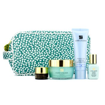 Estee Lauder Even Skintone Essentials Set: Cream 50ml + Cleanseer 50ml + Illuminator 15ml + Eye Complex 5ml + Bag  4pcs+1bag