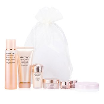 Shiseido Benefiance Travel Limited Set: Balancing Softener Enriched + Extra Creamy Cleansing Foam +  Night Cream + Day Emulsion SPF15 + Intensive Eye Contour Cream + Maquillage Powder  7pcs