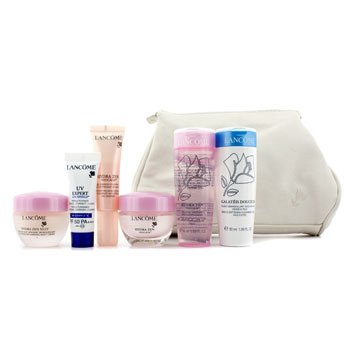 LancomeHydrazen Set: Cleansing Fluid + Aqua Gel + Crema Noche+ Neocalm + Gel Essence + UV Expert + Neceser 6pcs+1bag