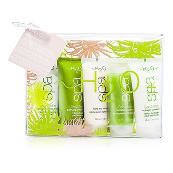 H2O+Sea Marine Set: Body Cream + Shower Cream + Hand & Nail Cream + Shampoo + Conditioner 5pcs