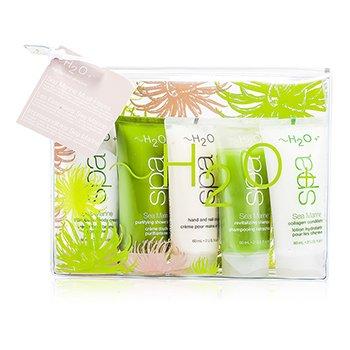 H2O+Sea Marine Set: Body Cream + Shower Cream + Hand & Nail Cream + Shampoo + Conditioner 5pcs