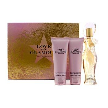 J. Lo Love & Glamour Coffret: Eau De Parfum 75ml/2.5oz + Glamorous Body Lotion 75ml/2.5oz + Glamorous Shower Gel 75ml/2.5oz  3