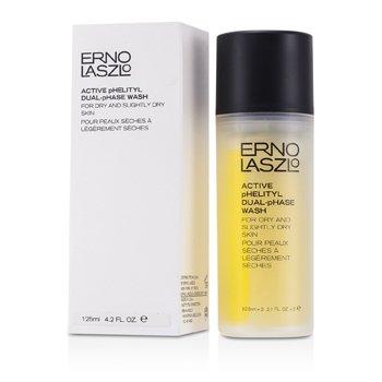 Erno LaszloActive Phelityl Dual - Phase Wash - For Dry & Slightly Dry Skin (Unboxed) 2x62.5ml/2.1oz
