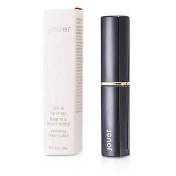Jouer SPF 15 Lip Sheer Hydrating Sheer Lipstick - # St. Tropez  2.8g/0.1oz