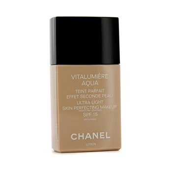 Chanel Base liquida Vitalumiere Aqua Ultra Light Skin Perfecting Make Up SPF15 - # 64 Beige Ambre  30ml/1oz