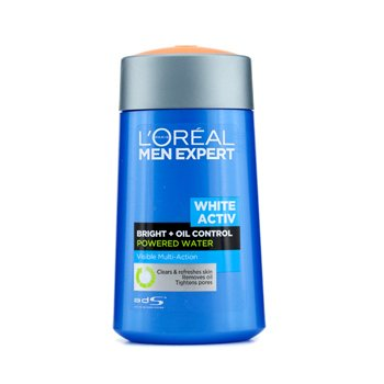 L'Oreal Men Expert White Activ Bright + Oil Control Powered Water  125ml/4oz