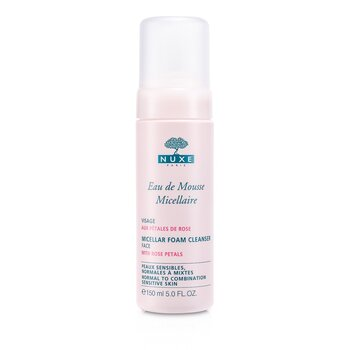 NuxeMicellar Foam Cleanser With Rose Petals (Normal to Combination, Sensitive Skin) 150ml/5oz