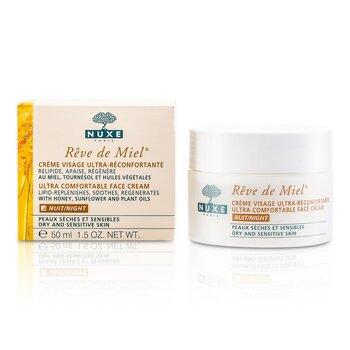 NuxeReve De Miel Ultra Comfortable Crema Rostro Noche (Piel Seca y Sensible) 50ml/1.7oz