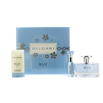 BvlgariEstuche Blv II: Eau De Parfum Spray 50ml/1.7oz + Eau De Parfum Spray 10ml/0.34oz + Gel de Ba�o y Ducha 75ml/2.5oz 3pcs