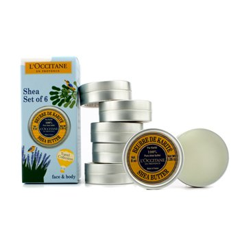 L'Occitane100% Pure Shea Butter (Face & Body) 6x8ml/0.26oz