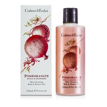 Crabtree & EvelynPomegranate, Argan & Grapeseed Bath & Shower Gel 250ml/8.5oz
