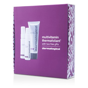 DermalogicaSmooth And Firm Set: Multivitamin Thermafoliant 75ml + Skin Resurfacing Cleanser 30ml + Antioxidant Hydramist 30ml 3pcs