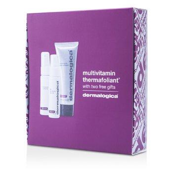 DermalogicaSmooth And Firm Set: Multivitamin Thermafoliant 75ml + Skin Resurfacing Cleanser 30ml + Antioxidant Hydramist 30ml 3pcs