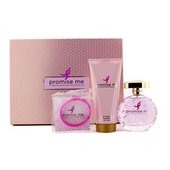 Susan G. Komen For The Cure Promise Me Coffret: Eau De Parfum Spray 100ml/3.4oz + Cream Body Wash 200ml/6.7oz + Wristband  3pcs