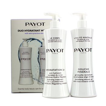 PayotKit Hydration 24 Corps Promo: Gel de banho Vitalite Minerale Douche Minerale Revitalizing  400ml/13.5oz +Creme Hidratante Le Corps Hydration 24 Hydrating Treatment For A Youthful Body 400ml/13.5oz 2pcs