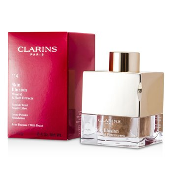 Clarins Skin Illusion Mineral & Plant Extracts Loose Powder Foundation (With Brush) - # 114 Cappuccino  13g/0.4oz