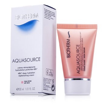 BiothermCreme Hidratante Aquasource 48H Deep Replenishing  (Pele Seca) 30ml/1oz