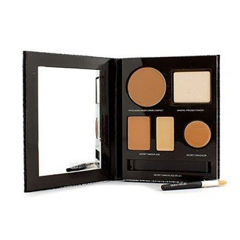 Laura MercierThe Flawless Face Book - # Tan (1x Creme Compact, 1x Pressed Powder w/ sponge, 1x Secret Camouflage...) 5pcs