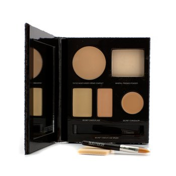 Laura Mercier The Flawless Face Book - # Nude (1x Creme Compact, 1x Pressed Powder w/ sponge, 1x Secret Camouflage...)  5pcs