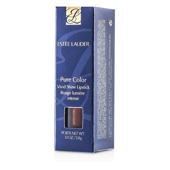 Estee Lauder Pure Color Vivid Shine Lipstick - # F3 Copper Flash  3.8g/0.13oz