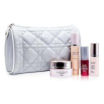 Capture Totale Set: Creme + Concentrated Serum + One Essential + Serum Foundation #020 + Bag