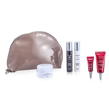Christian Dior Diorshow White Reveal Set: Fresh Cream + Essence + Night Concentrate + One Essential 10ml + One Essential 2ml + Bag 5pcs+1bag