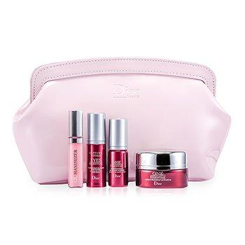 Christian DiorCapture Totale Set: Treatment Mask + One Essential Super Serum + Eyes Essential + Lip Plumper #001 + Bag 4pcs+1bag