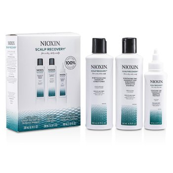 Nioxin Scalp Recovery Kit: Cleanser 200ml + Conditioner 200ml + Soothing Serum 1 hair care