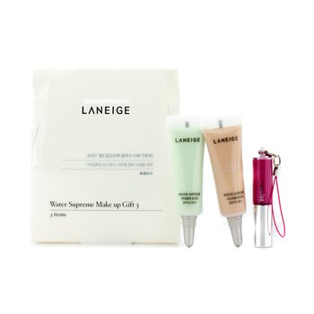 Laneige Water Supreme Make Up Gift 3: 1x Mini Lip Gloss  1x Mini Foundation SPF 15  1x Primer Base SPF 15 3pcs