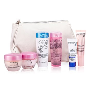 Lancome Travel Set: Neocalm 15ml + Nuit 15ml + Gel Essence 10ml + Aqua Gel 50ml + Shield BB 0ml + Galeatels  6pcs+1bag