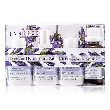JanesceLavender Home Care Facial Treat (For Normal/ Dry Skin): Soaking Drops + Cleansing Milk + Refresher + Day Lotion+ Serum + Mask + Clearing Wash + Soaking Cloth 8pcs