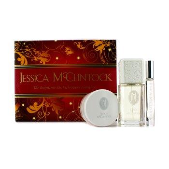 Jessica McClintockRomantic Treasure Coffret: parfemska voda u spreju 100ml/3.4oz + krema za tijelo 99g/3.5oz + Edp Roll On 3pcs