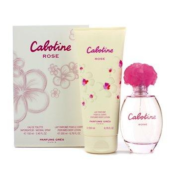 Gres Cabotine Rose Coffret: Eau De Toilette Spray 100ml/3.4oz + Perfumed Body Lotion 200ml/6.76oz 2p