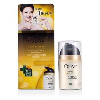 Total Effects Anti-Aging UV Moisturizer Fragrance-Free SPF 15 Olay Total Effects Anti-Aging UV Moisturizer Fragrance-Free SPF 15 50ml/1.7oz