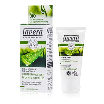 LaveraSoothing Moisturizing Fluid - Aloe Vera & Sea Buckthorn (For Sensitive Skin) 30ml/1oz