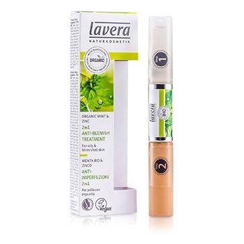 Lavera 2 In 1 Anti-Blemish Treatment – Mint & Zinc (For Oily & Blemished Skin) 10.5ml/0.36oz