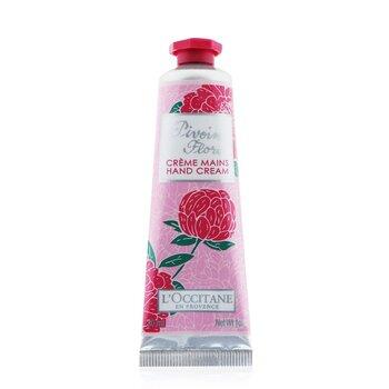 L'Occitane Peony (Pivoine) Flora Hand Cream 24MA030P1  30ml/1oz
