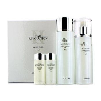 Missha Time Revolution White Cure Special Set I: Essential Toner 150ml & 30ml + Radiance Lotion 130ml & 30ml 4pcs