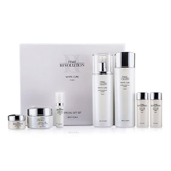 MisshaTime Revolution White Cure Special Gift Set II: Toner 150ml & 30ml + Lotion 150ml & 30ml + Cream 50ml & 10ml + Serum 7ml 7pcs