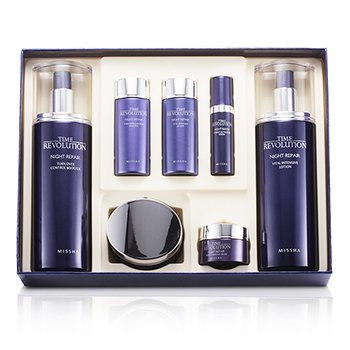 MisshaTime Revolution Night Repair Special Gift Set II: Control Booster 130ml & 30ml + Lotion 130ml & 30ml + Cream 50ml & 10ml + Serum 7ml 7pcs