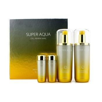 Missha Super Aqua Cell Renew Snail Special Gift Set: Moisturizer 130ml & 30ml + Skin Treatment 130ml & 30ml 4pcs