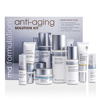 MD FormulationsAnti-Aging Solution Kit: Cleanser 60ml + Serum 30ml + Moisture Creme 15ml + Serum 10ml + Total Protector 10ml + Eye Complex 5ml + Eye Cream 5ml 7pcs