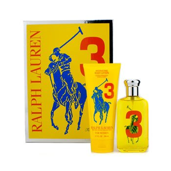 Ralph Lauren Big Pony Collection #3 Yellow Coffret: Eau De Toilette Spray 100ml/3.4oz + Hydrating Body Lotion 200ml/6.7oz 2pcs